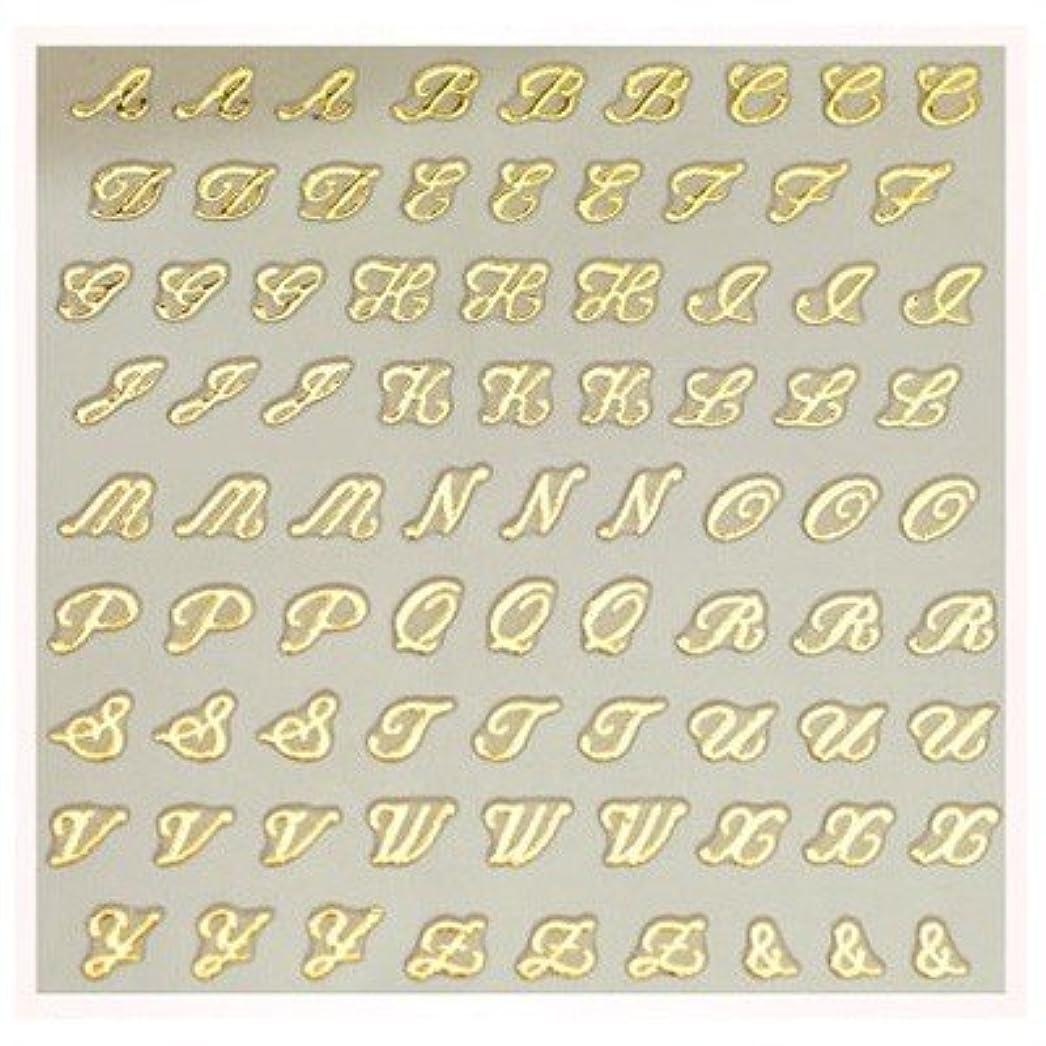 心理的にチケットこしょう文字ネイルシール アルファベット イニシャル ピアドラ pieadra×BLC ネイルシール ブローチイニシャル 小 ゴールド