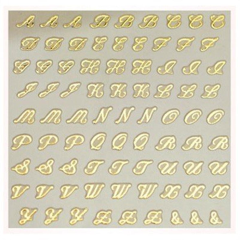 研磨玉昨日文字ネイルシール アルファベット イニシャル ピアドラ pieadra×BLC ネイルシール ブローチイニシャル 小 ゴールド