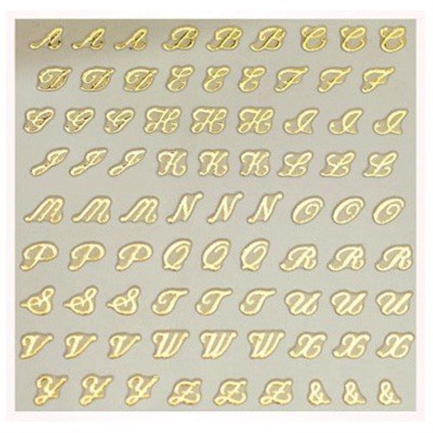 文字ネイルシール アルファベット イニシャル ピアドラ pieadra×BLC ネイルシール ブローチイニシャル 小 ゴールド