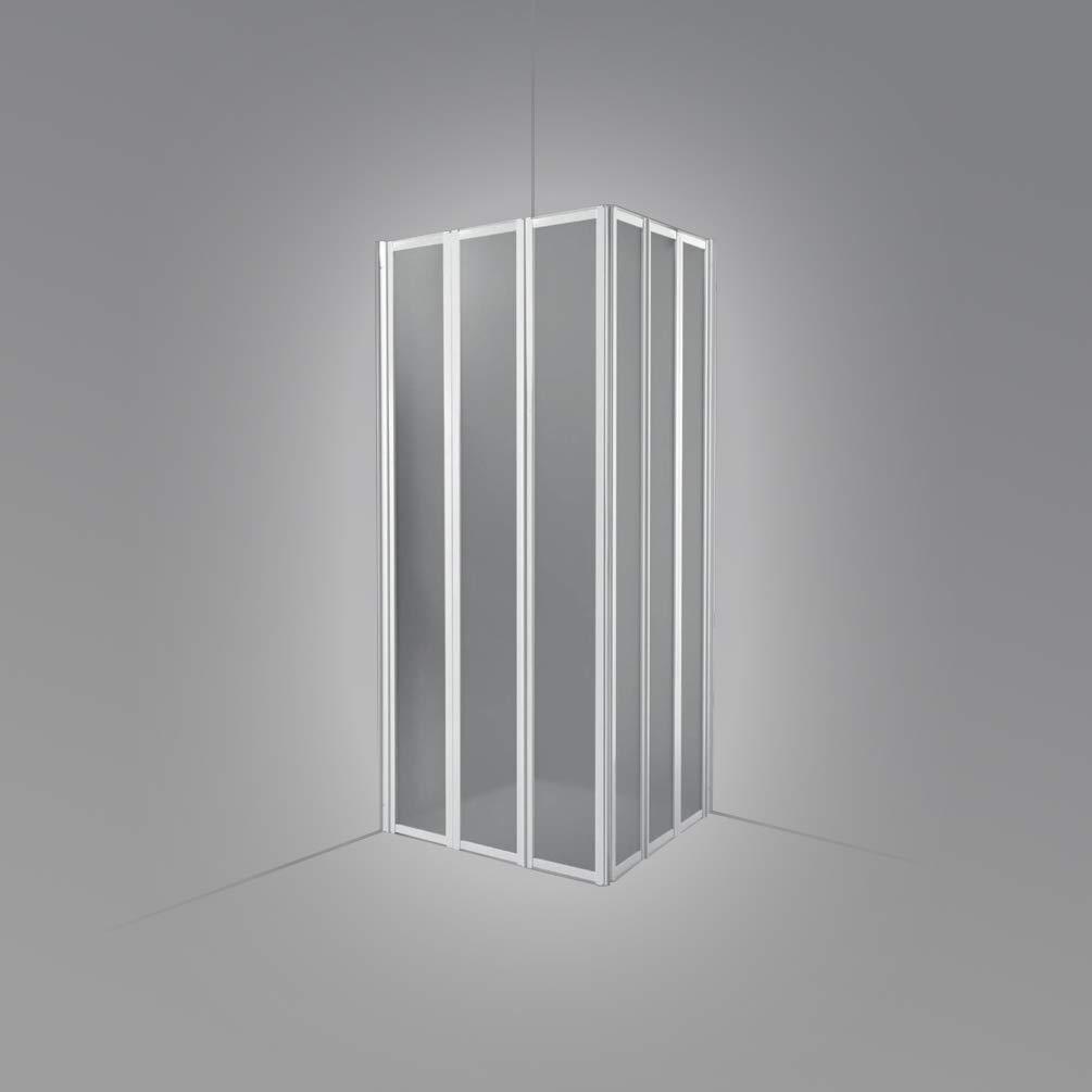 Mampara de ducha en esquina, 89/90+89/90, 3 + 3 paneles plegables, placas de acrílico: Amazon.es: Bricolaje y herramientas