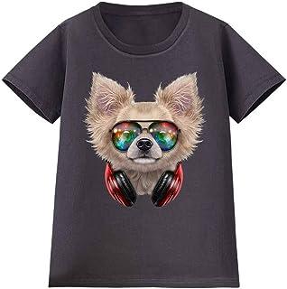 Fox Republic【チワワ ドッグ 犬 いぬ サングラス ヘッドフォン】 レディース 半袖 Tシャツ