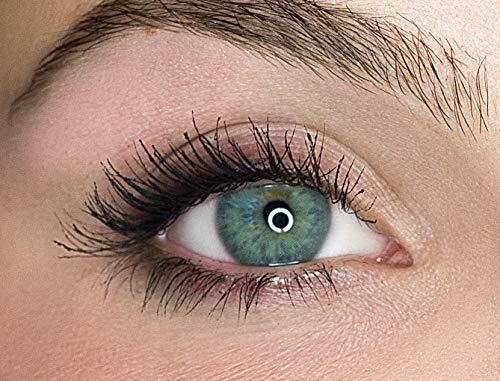 Kontaktlinsen farbig ohne Stärke farbige Jahreslinsen weiche Linsen soft Hydrogel 2 Stück Farblinsen + Linsenbehälter 0.0 Dioptrien natürliche Farben Serie Gleam Green (grün)