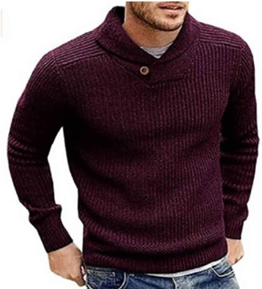 ZYING Men's Sweater Winter Casual Male Wool Jumper Pullover Fashion High Street Pleated Slim Fit Knitted Sweaters Men Clothing (Color : White)