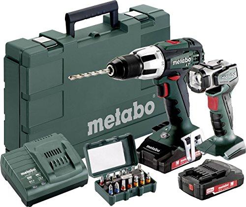 Metabo SB 18 LT Akku-Schlagbohrschrauber 18V 2Ah Li-Ion inkl. 2. Akku, inkl. Koffer, inkl. Akku-Lamp