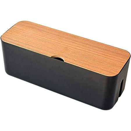 Sweet48 Kabel Organizer Box Drahtmanagement Kabel Aufbewahrungsbox Verlängerungsbox Steckdosenleiste Kabel Box Verstecken Sie Verlängerungskabel Und Elektrische Kabel Schwarz Free Size Küche Haushalt