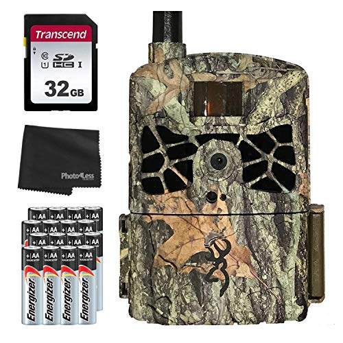 Browning BTC-DWC-VZW Defender Wireless Cellular 4G 20MP Trail Camera - Verizon + 32GB SD Card, 16 AA Batteries and Lens Cleaning Cloth
