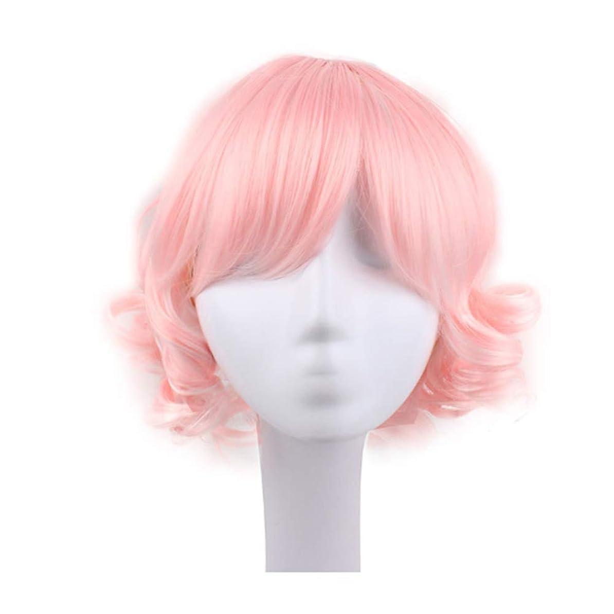 ベイビービュッフェ小さなブロンドのかつら女性のための短い巻き毛のかつら髪のかつらリアルウィッグとして自然な日々のパーティーコスプレ衣装かつらかつらキャップ付きかつら