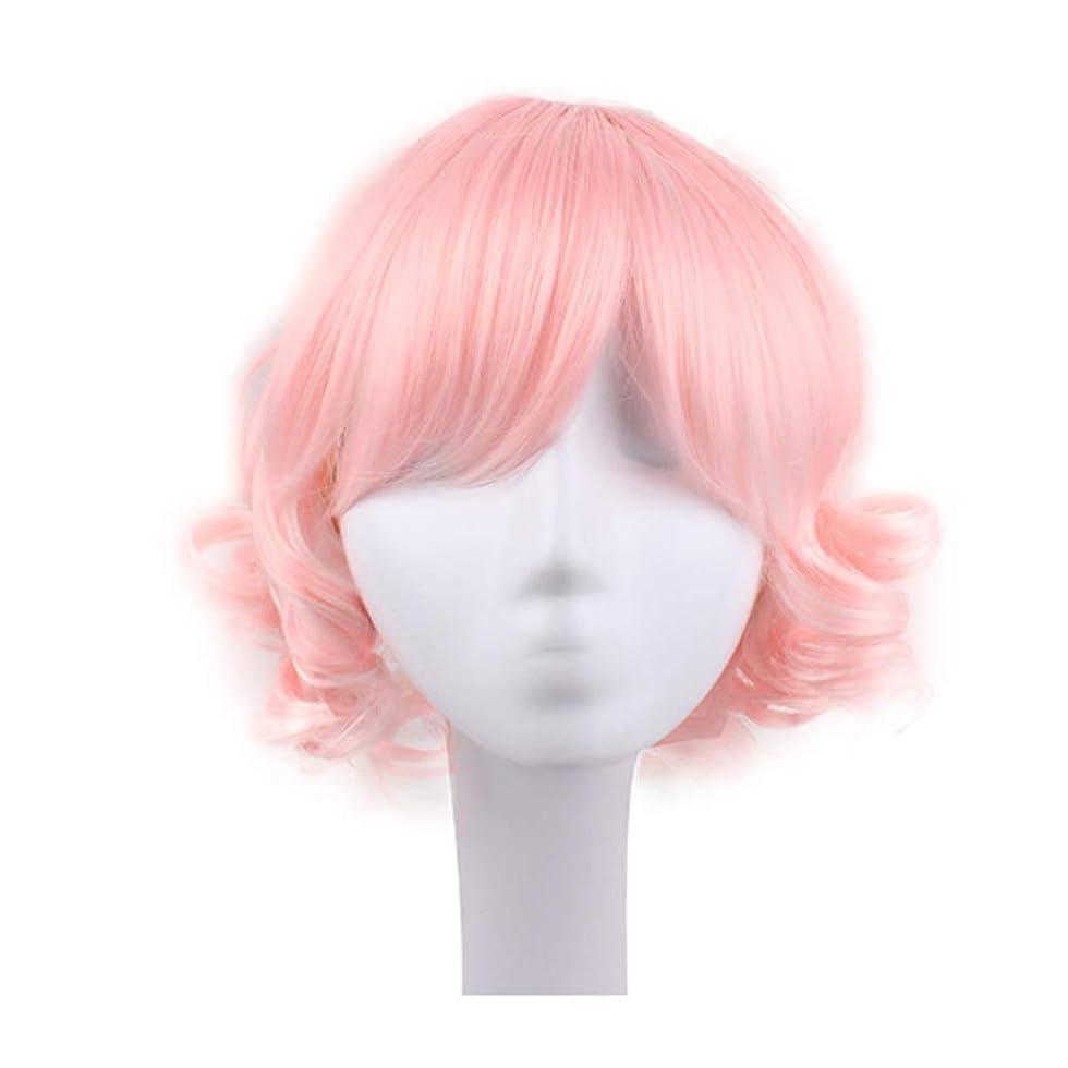 校長潤滑する粘土ブロンドのかつら女性のための短い巻き毛のかつら髪のかつらリアルウィッグとして自然な日々のパーティーコスプレ衣装かつらかつらキャップ付きかつら