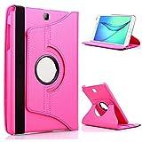 PU Csae para LG G Pad 8.3 V500 GPad 8.3 V510 GPad8.3 Funda para Tableta 360 Soporte Giratorio Soporte Giratorio Funda de Cuero-para 360 Rose Red