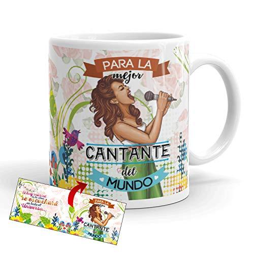Kembilove Taza de Café para la Mejor Cantante del Mundo – Taza de Desayuno para la Oficina – Taza de Café y Té para Profesionales – Tazas de Profesiones para Cantantes