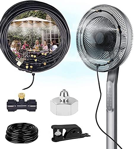 CINEMON Kit Nebulizadores para Terrazas, Sistema de Nebulizacion para Exterior, Nebulizador Exterior Agua 10 Metros de Manguera y 10 boquillas de Metal Nebulizador Jardin Ventilador