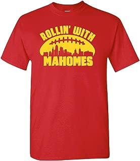 Xtreme Apparrel Rollin with Mahomes Kansas City Skyline Shirt