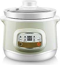 Elektrische stoofpan, 1 l keramische kookpan, huishouden, kan worden gereserveerd, slow cooker met glazen deksel en 24 uur...