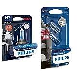 Philips Automotive Lighting Mt-Ph 12972Cvubw Bombillas H7 + 12961Nbvb2 Whitevision Efecto Xenón W5W Lámpara Automática, Doble Ampolla