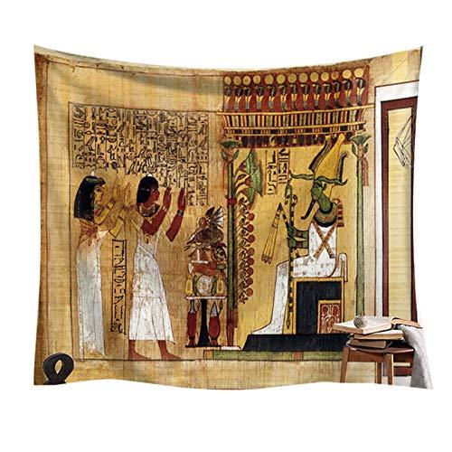 Tapeçaria -- Tapeçaria Egípcia Antiga Religião Tapeçaria Histórica Pano de Fundo Egito Mitologia Tapeçaria deuses Egípcios Faraós Esculturas Hieroglíficas Tapeçarias Dormitório Sala de Estar decoração