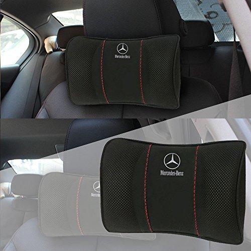Coussins Appuie Tête Voiture, Mercedes-Benz Repose Tête Cervical pour les Sièges de Voitures avec la mémoire de forme [Paquet de1]