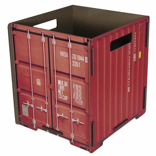 Werkhaus Container Papierkorb rot