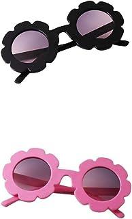 #N/A - #N/a 2pcs Niños Pequeños Preescolares Vintage Flor Gafas de Sol UV400 para Niñas Niños