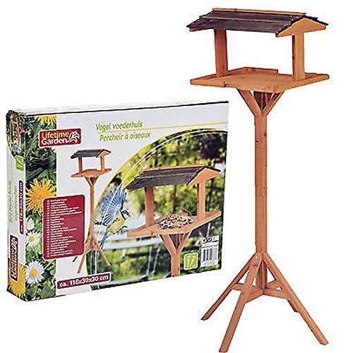 Perchoir à Oiseaux en Bois - Maison Oiseau Mangeoir Jardin - 116cm - 377