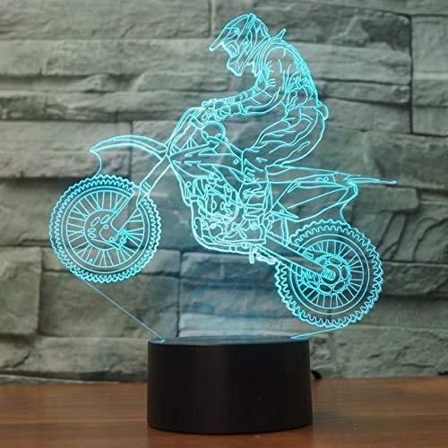 3D LED Tischlampe Acryl Nachtlicht Cartoon Süße Anime Filmfigur Kinder Junge Kinder Geschenk Schlafzimmer Dekoration Rennmotorrad Lokomotive