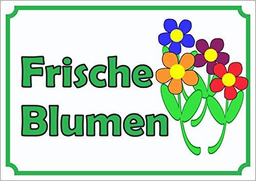 Verkaufsschild Aufkleber Blumen A5 (148x210mm)