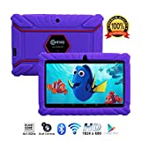 Contixo Kids Tablet K2 | 7' Display Android 6.0 Bluetooth WiFi Camera Parental Control for Children Infant Toddlers Includes Tablet Case (Purple)