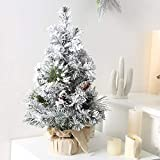 Savlot Pequeño árbol de Navidad 30 / 40Cm Árbol de Navidad artificial Mini árbol de Navidad con base para decoraciones de mesa Decoraciones de Navidad Decoración del hogar Regalos de Navidad