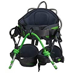 Fits waist 28-36 inches. 23-35 inch leg circumference This saddle gives the climber options from rope bridge length to placement of a chainsaw lanyard The leg loops, waist belt and bridge paw position are all highly adjustable with easy to use buckle...