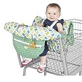 Groust Funda protectora para carrito de la compra del bebé, cojín universal para trona y cesta de la compra, lavable, organizadores suaves, seguridad para niños