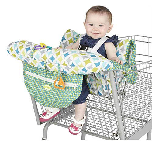 Bagalqio Cojines carrito infantil asientos para carros Asientos portabebés asientos bebés portátiles bolsa de compra esteras para sillas de carrito de compra Shopping cart cushion fundas everyday