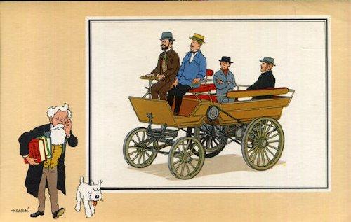 Chromos Voir et Savoir - L'Automobile - Tome 1 (Des origines à 1900) - Série 9 - n° 31 - Break à pétrole de Delamarre-Debouteville (1883 - France)
