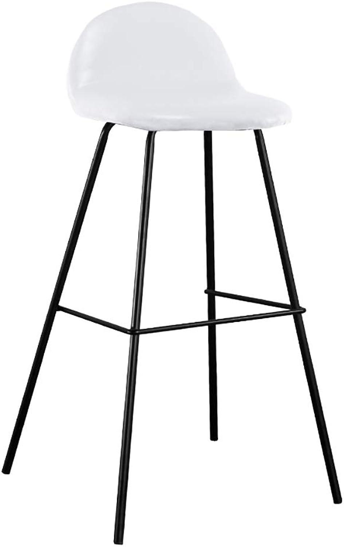 Iron Art Bar Chair Modern Simplicity Bar Stools High Stool Creative Chair Home (color   D)