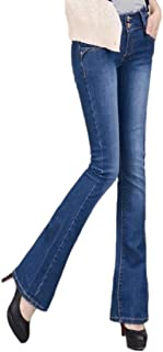 Women High Waisted Jeans Bell Bottom Stretchy Plus Size Skinny Jeans