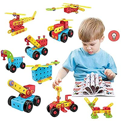 LUKAT STEM Toys, 165 Piece Learning Toys, Educational Construction Engineering Building Toys Set Gift for Ages 3 4 5 6 7 8 9+ Year Old Boys & Girls