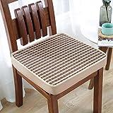 Almohadillas de silla de espuma de memoria, cojín de silla cuadrada, almohadillas de asiento con espesas suaves para el hogar de la oficina o el coche para el cojín del jardín (color: F, tamaño: 45x45