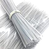 Weststone 100pcs 7' (18cm) Plastic Clear Twist Ties - Flat