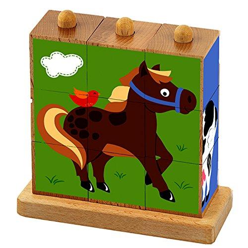 Viga 50833 speelgoedschilderij puzzel boerderijen, Multi Color