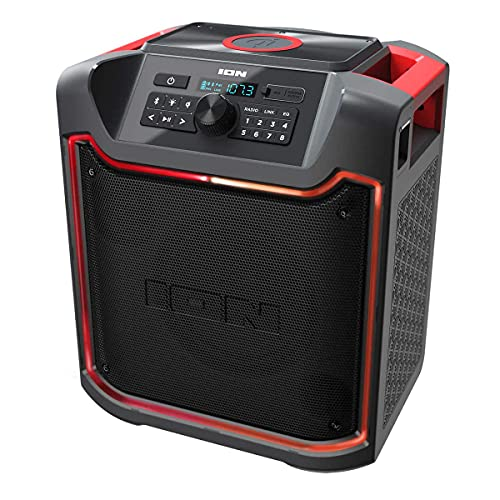 ION Pathfinder 4 Bluetooth Portable Speaker with Wireless Qi Charging (Renewed)