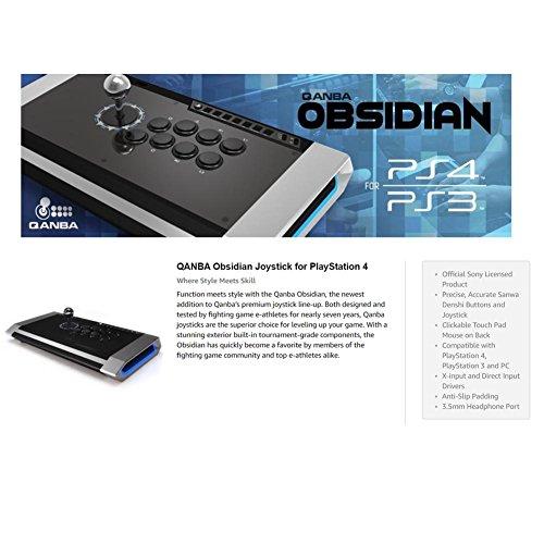 QanbaObsidianJoystickforPlayStation4andPlayStation3andPC(ファイティングスティック)ソニー公式ライセンス取得製品[海外直送品][並行輸入品]