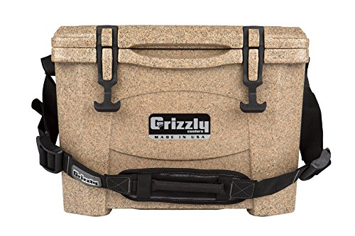 Grizzly  15 quart Rotomolded Cooler, Sandstone