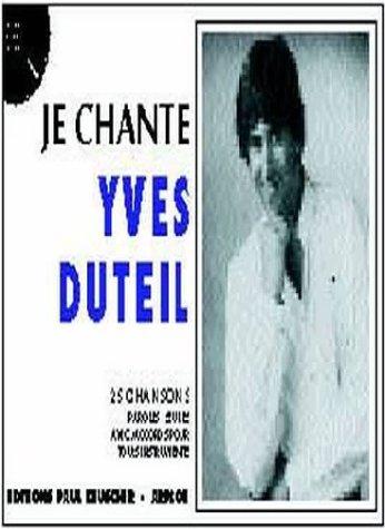 Partition : Je chante Duteil