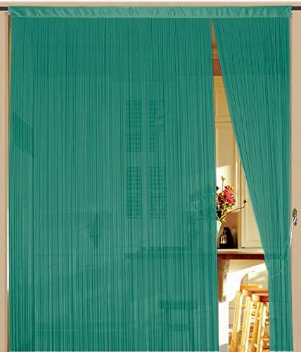 Fadenvorhang 90 cm x 240 cm (BxH) türkis