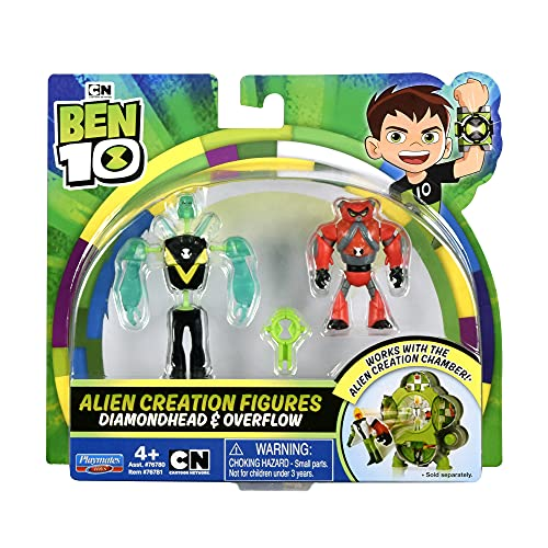 Ben 10 Alien Creation Figures 2 Pack (Diamondhead, Overflow)