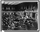 Reproduced 16 x 20 Photo of: Scene at the opening of the House of Representatives today--Members left their seats to hold an informal reception before the Speaker's desk--Speaker Gillette sic is shown