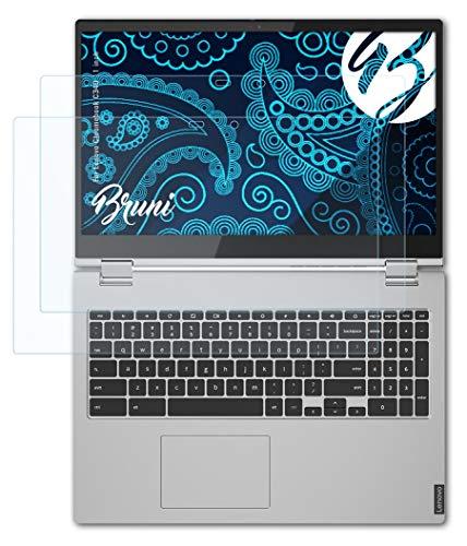 Bruni Schutzfolie kompatibel mit Lenovo Chromebook C340 11 inch Folie, glasklare Bildschirmschutzfolie (2X)