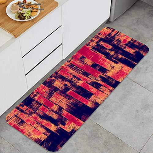 Cocina Antideslizante Alfombras de pie Textura Grunge Fondo Usado Decoración de Piso Confortables para el hogar, Fregadero, lavandería-120cm x 45cm