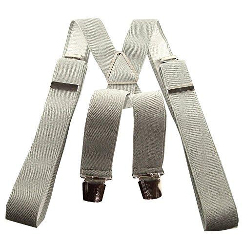 Bretelles 120cm gris clair a pinces