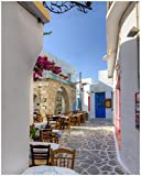 Wallario Poster - Gasse in Griechenland in