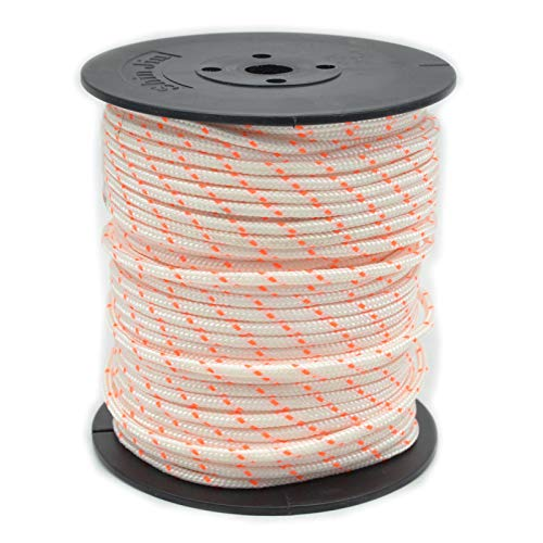 SUCHUANGUANG 50m 3mm Cuerda de Arranque de Nailon Cuerda de Arranque de Motor de Retroceso para Recortadora de césped Cuerda de tracción de Nailon