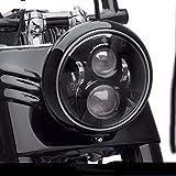 phare rond 7 pouces à LED Yeux D'ange avec DRL Blanc/Ambre Indicateurs de direction Halo pour Harley Davidson Moto Wrangler JK Lj TJ